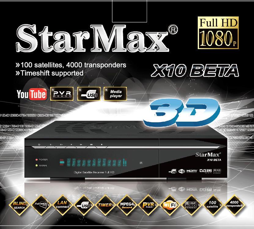 فروش رسيور استارمكس StarMax X10 BETA Full HD
